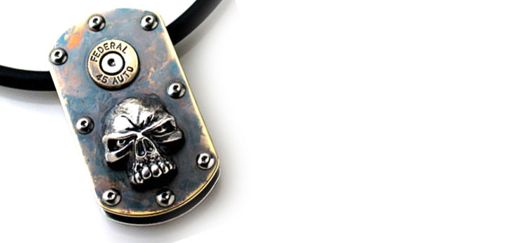 Bad-Intent-Skull-Double-Dogtag-
