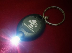 Emerson Brand LED Keychain in Black