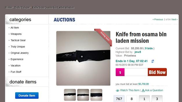 Emerson Knife carried during Osama Bin Laden mission goes on auction
