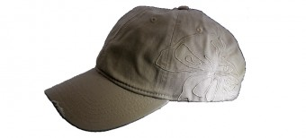 Tan outline skull hat