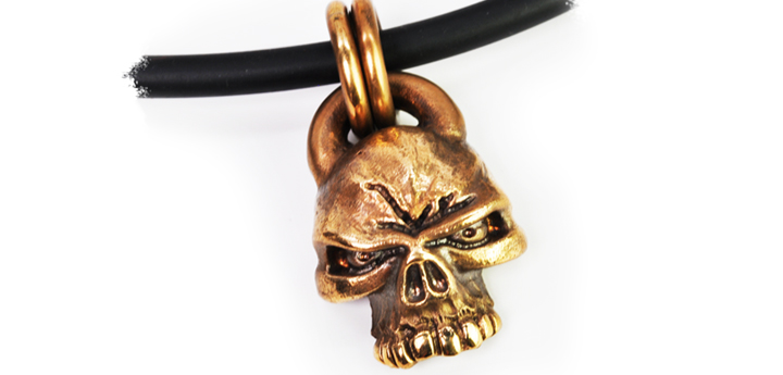 Bronze bad intent pendant